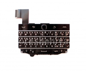 Russian keyboard assembly with the board and trackpad for BlackBerry Classic (engraving), The black