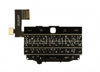 Russian keyboard assembly with the board (without the trackpad) for BlackBerry Classic (engraving), The black
