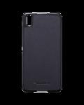Original Plastic / Leather Case Hard Shell Case for BlackBerry DTEK50, Black