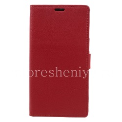 """Leather Case horizontal opening """"Classic"""" for BlackBerry DTEK60, Red"""