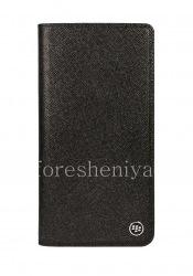 Original Leather Flip Case with Flip Case for BlackBerry KEY2 LE, Black