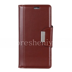 Leather case book for BlackBerry KEY2 LE, Brown