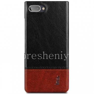 Buy Corporate plastic cover-cover Leather IMAK for BlackBerry KEY2 LE