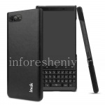 Corporate plastic cover-cover Leather IMAK for BlackBerry KEY2, Black