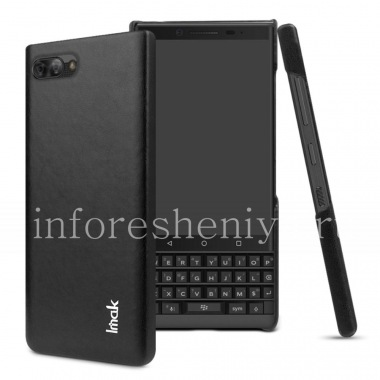 Buy Corporate plastic cover-cover Leather IMAK for BlackBerry KEY2