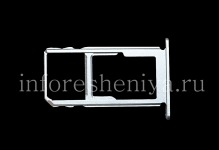 SIM card and memory card holder for BlackBerry KEY2, Metallic