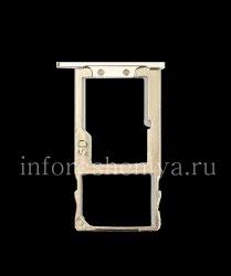 SIM card and memory card holder for BlackBerry KEYone, Metallic