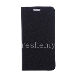 """Leather Case horizontal opening """"Wooden"""" for BlackBerry Leap, The black"""