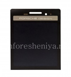 LCD screen + touchscreen without a base for BlackBerry P'9983 Porsche Design, Black with silver panel