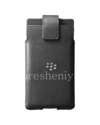 Original Leather Case with Clip for Leather Holster BlackBerry Priv, Black