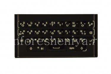 俄语键盘支架BlackBerry Priv(雕刻), 黑