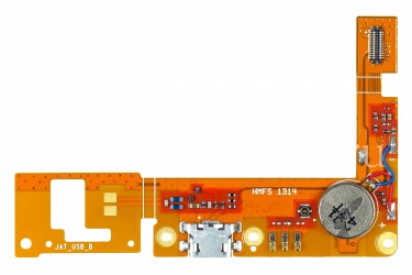 The chip motherboard with USB-connector and the microphone for BlackBerry Z3