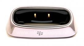 "Original desktop charger BlackBerry Charging Pod ""Glass"" for BlackBerry 8300/8310/8320 Curve, Metallic"