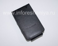 The original leather case opens vertically Wallet Case for BlackBerry 8300/8310/8320 Curve, Black