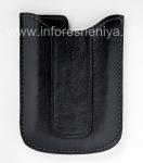 Original Leather Case-pocket Vinyl Pocket Case for BlackBerry 8300/8310/8320 Curve, Black