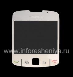 The original glass screen for BlackBerry 8520 Curve, Pearl-White