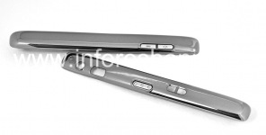 Side panels with buttons for BlackBerry 8800 / 8820/8830, Silver