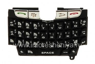 俄语键盘BlackBerry 8800(雕刻), 黑