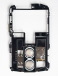The middle part of the body with speakers for BlackBerry 8800/8820/8830, Черный