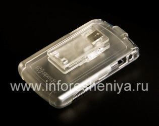 कॉर्पोरेट प्लास्टिक के मामले + पिस्तौलदान Speck Seethru ब्लैकबेरी 8800/8820/8830 के लिए प्रकरण, पारदर्शक