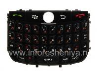 Russian keyboard BlackBerry 8900 Curve, The black