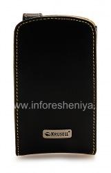 ब्लैकबेरी कर्व 8900 के लिए हस्ताक्षर चमड़ा प्रकरण Krusell ऑर्बिट फ्लेक्स Multidapt चमड़ा प्रकरण, काला
