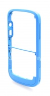 """Photo 8 — Colour housing for BlackBerry 9000 Bold, Blue Brushed, cover """"skin"""""""