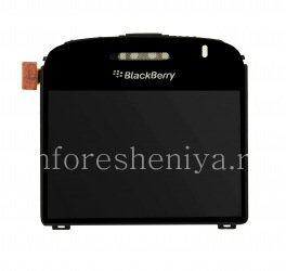 The original screen assembly with glass for BlackBerry 9000 Bold, Black, Type 001/004