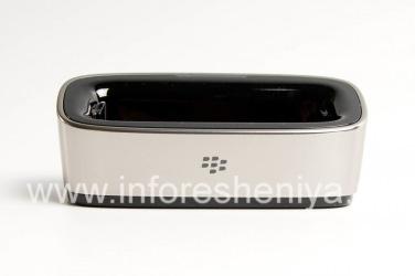 "Original desktop charger ""Glass"" Charging Pod for BlackBerry 9000 Bold, Metallic"