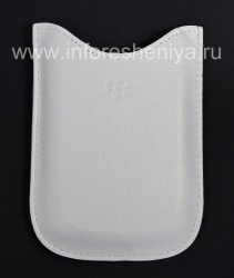 Original Leather Case-pocket Leather Pocket Case for BlackBerry 9000 Bold, White