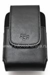 Original Leather Case c rectangular clip Leather Swivel Holster for BlackBerry 9000 Bold, Black
