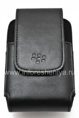 Buy Original Leather Case c rectangular clip Leather Swivel Holster for BlackBerry 9000 Bold
