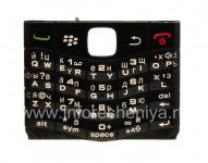 Russian keyboard BlackBerry 9100 Pearl 3G (engraving), The black