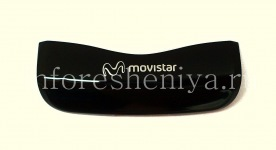 Part of the hull U-cover with the logo of the operator for the BlackBerry 9100/9105 Pearl 3G, Black, Movistar