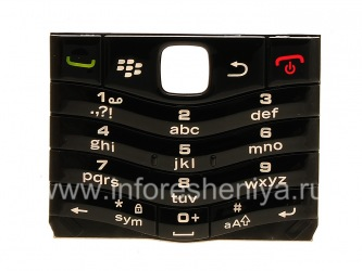 The original English Keyboard for BlackBerry 9105 Pearl 3G, The black