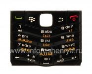 Original keyboard BlackBerry 9105 Pearl 3G other languages, Black, arabic
