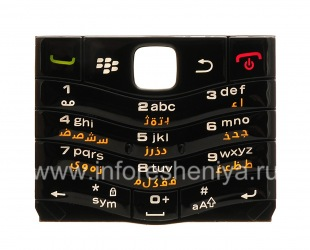 Original keyboard BlackBerry 9105 Pearl 3G other languages, Black, arabic
