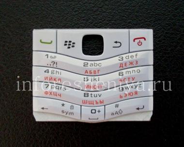 Buy White Russian keyboard BlackBerry 9105 Pearl 3G