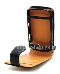 Signature Leather Case with vertical opening cover Cellet Executive Case for BlackBerry 9500/9530 Storm, Black Brown