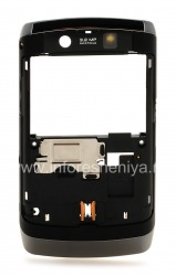 The rim with elements of housing for BlackBerry 9520/9550 Storm2, Dark metallic / Black