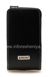 Signature Leather Case Krusell Orbit Flex Multidapt Leather Case for the BlackBerry 9520/9550 Storm2, Black