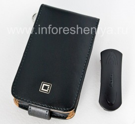 Signature Leather Case with vertical opening cover Cellet Executive Case for BlackBerry 9520/9550 Storm2, Black Brown