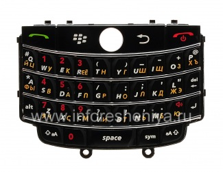 Russian keyboard BlackBerry 9630 Tour, The black