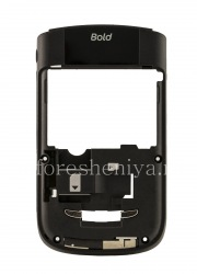 The middle part of the original body with all the elements without a camera opening for BlackBerry 9630/9650 Tour, The black