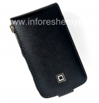 Signature Leather Case with vertical opening cover Cellet Executive Case for BlackBerry 9630/9650 Tour, Black Brown