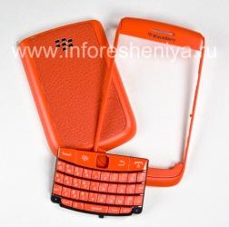 """Color Case for BlackBerry 9700/9780 Bold, Orange Matt, Cover """"Skin"""""""