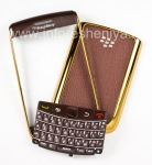 """Exclusive color case for BlackBerry 9700/9780 Bold, Gold / Coffee glossy cover """"skin"""""""
