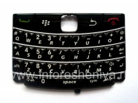 The original English keyboard for BlackBerry 9700/9780 Bold, Black with light stripes
