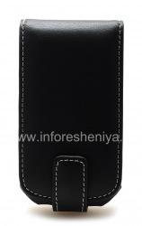 Signature Leather Case handmade Monaco Flip Type Leather Case for BlackBerry 9700/9780 Bold, Black