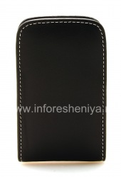 Signature Leather Case-pocket handmade Monaco Vertical Pouch Type Leather Case for BlackBerry 9700/9780 Bold, Black
